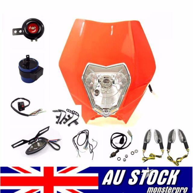 Full Lighting Kit Head/Taill Light Indicator Wiring Loom Motorcycle Road RECREG