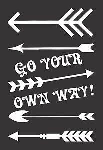 Arrows Go Your Way #564 Die Cut Vinyl Window Decal//Sticker for Car//Truck
