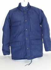 MENS SZ M VTG CABELA'S BLUE HUNTING FISHING DOWN COAT JACKET WINTER SNOW WARM