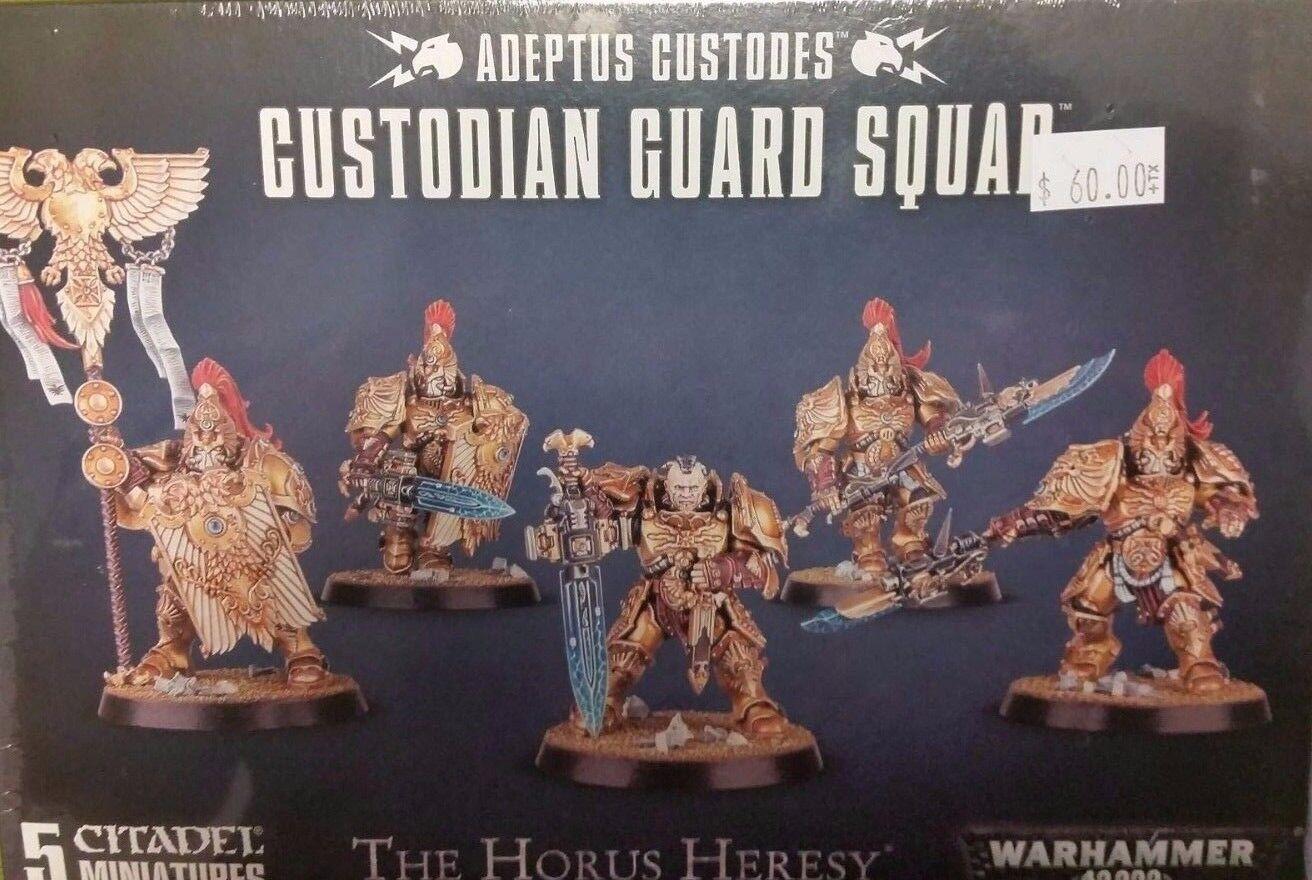 Warhammer 40K 30K Horus Heresy Adeptus Custodes CUSTODIAN  GUARD SQUAD nuovo Sealed  tempo libero