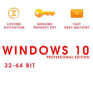 WIN®10® PRO✨64/32 BIT 🌠 Key Lifetim👑 FULL🔑VERSION ✅WINDOW$ ACTIVATION KEY