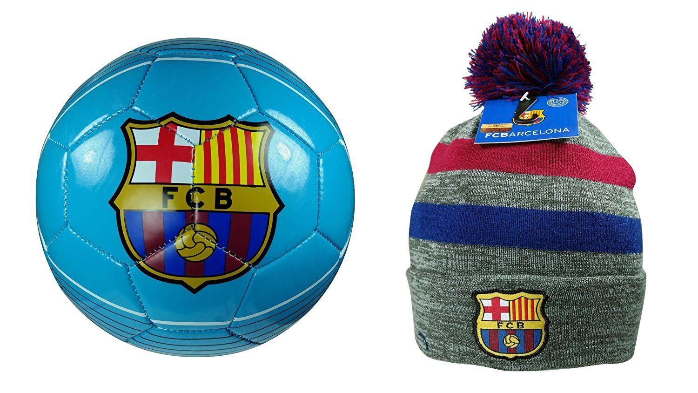 138aba980d4 Barcelona Soccer Size 4 Ball   Beanie Combo 21-3 Official FC ...