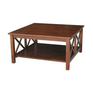 International Concepts Coffee Table Hampton Solid Wood Sturdy