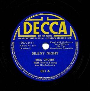 BING CROSBY on 1935 Decca 621 - Silent Night, Holy Night / Adeste Fidelis