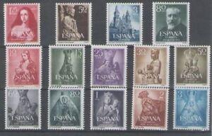 SPAIN-ANO-1954-NUEVO-MNH-ESPANA-EDIFIL-1129-42-COMPLETO-SIN-FIJASELLOS
