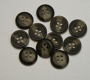 10pc 15mm Fawn Beige Mock Horn Suit Cardigan Knitwear Baby Button 5638