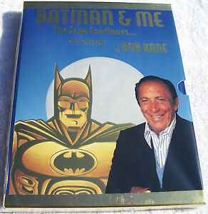 Batman-amp-Me-Ltd-Gold-Slipcase-Ed-Hardcover-Rare-HC-Signed-w-COA-by-Bob-Kane