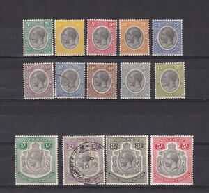 TANGANYIKA-KUT-1927-SG-93-105-CV-133-short-set-MH-Used