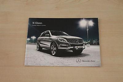 Preise & Extras Mercedes M-klasse W164 171971 Prospekt 07/2011
