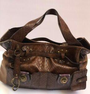 Jessica-Simpson-Handbag-Large-Hobo-Shoulderbag-Brown-Satchel-Carryall