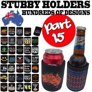 Stubby-Holder-Funny-Novelty-Stubbie-Birthday-Gift-SUPER-VARIOUS-DESIGNS-BH15