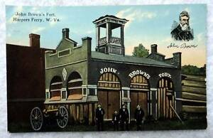 POSTCARD-JOHN-BROWNS-FORT-HARPERS-FERRY-WEST-VIRGINIA-W9J