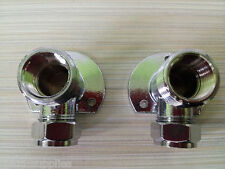 Chrome Shower Wallplate Elbow Fixing for Exposed Thermostatic Bar Mixer Valve Pr