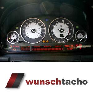 "Tachoscheibe für BMW E38-39/E53/X5  ""Racing"" 250 Kmh  Benziner."