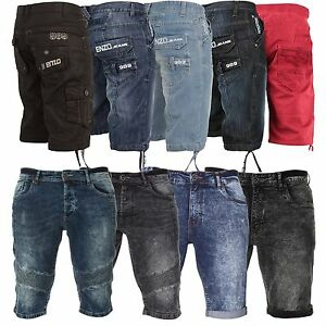 New-Mens-ENZO-Jeans-Designer-Branded-Denim-Spring-Summer-Shorts-Waist-Size-28-48