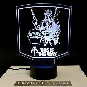 mandalorian baby yoda Way lampada luce notturna Led 3D Acrylic Night Light Lamp