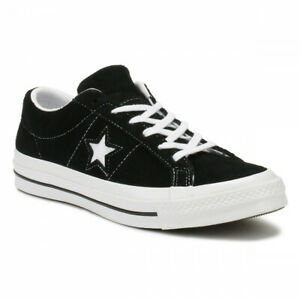 Converse-One-Star-Ox-Black-White-Suede-Mens-Trainer-Shoes-158369C