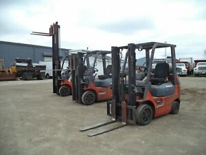 2005-07-Toyota-Model-7FGCU20-4-000-4000-Cushion-Tired-Forklift-118-034-Lift