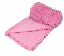 SUPERSOFT FLUFFY BABY CANDY PINK THICK LARGE 150X200CM THROW BLANKET