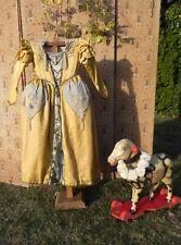 Ancienne robe enfant costume ancien perles vêtement déco fêtes Shabby 19è Noël