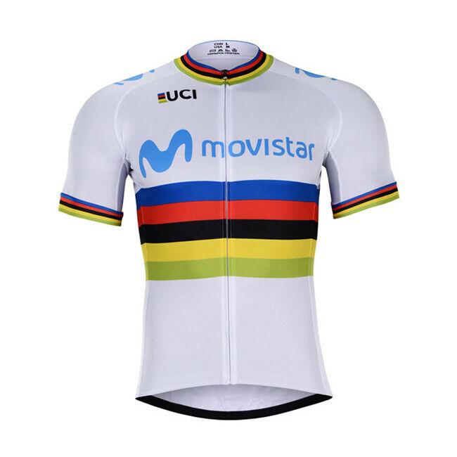 Nouveau 2019 MOVISTAR UCI Jersey Hobby cyclisme PRO TOUR DE FRANCE QUINTANA LANDA