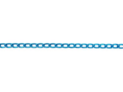 2 mètres de chaine aluminium maille cheval 6 mm x 3,5 mm pour fabrication-fca029
