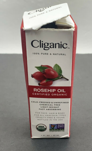 Organic Rosehip Seed Oil for Face Hair Body,100% Pure,Unrefined Cold Pressed 1oz