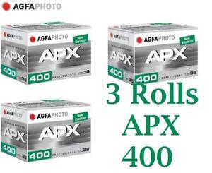 Agfa-APX-400-Negative-Film-35-mm-x-36-Exp-Feet-3-Rolls-Fresh-Latest-Emulsion