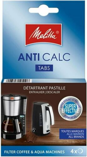 Details about  /1 PACK OF 4 FILTER COFFEE MACHINE DESCALING TABLETS BY MELITTA MEL6545475