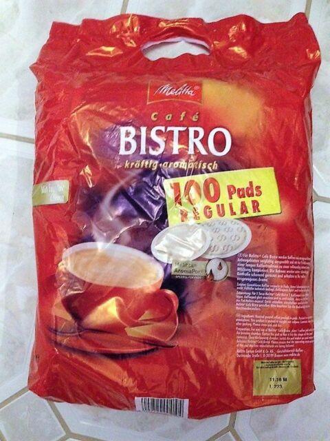 Melitta - Cafe Bistr - 100 Kaffeepads Megabeutel - einzeln verpackt - z.B Senseo