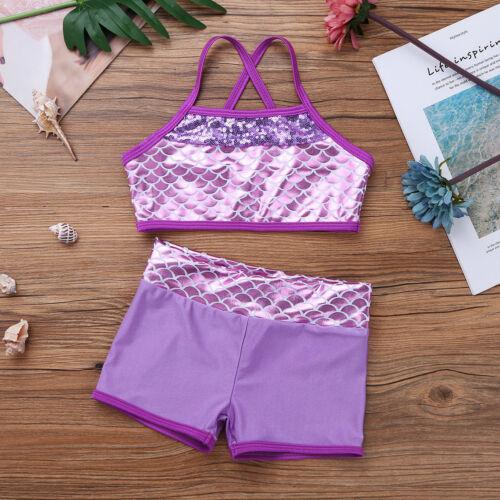 Badeanzug Mädchen Meerjungfrau Bikinis für Kinder Zweiteiliger Bademode 104-164