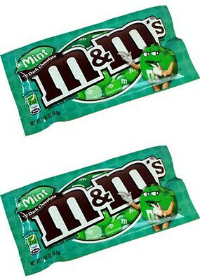 2 x M&M's Dark Mint Chocolates from American Goodies. USA import.