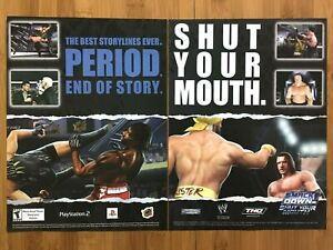 WWE-Smackdown-Shut-Your-Mouth-PS2-2002-Vintage-Print-Ad-Poster-Hulk-Hogan-Rock