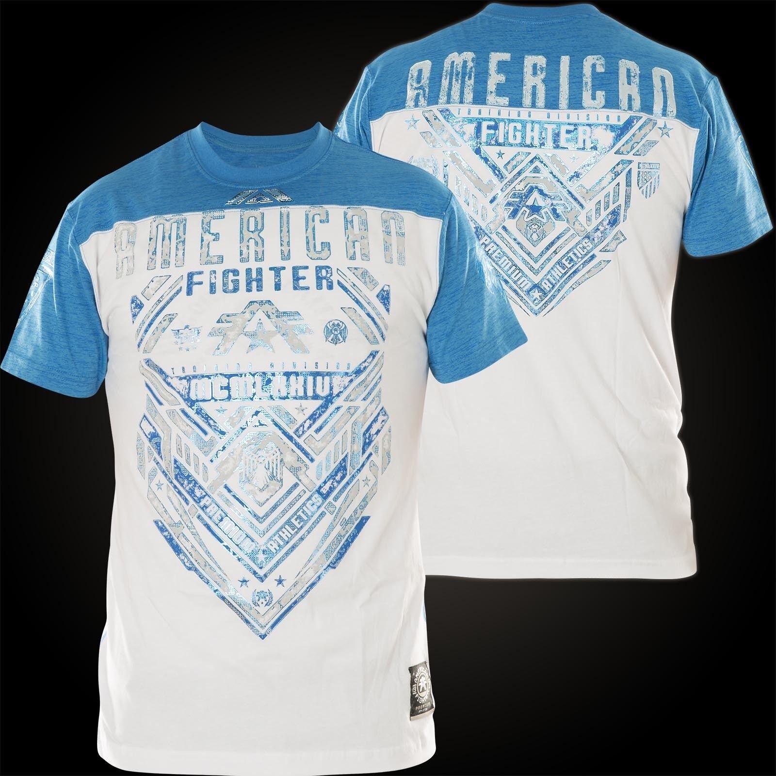 AMERICAN FIGHTER Affliction T-Shirt Miller Weiß/Blau T-Shirts