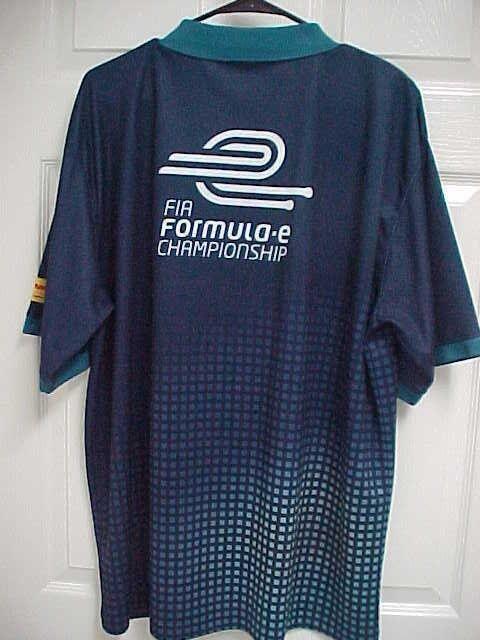 FIA Formula E Championship Racing Men Short Sleeve Navy bluee Polo Shirt 2XL DHL