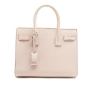 56ef2f4ab76 NEW YSL SAINT LAURENT CLASSIC SAC DE JOUR BEIGE GRAINED LEATHER TOTE ...