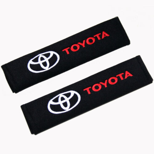 1 Pair Car Seat Belt Shoulder Pads Strap Covers Cushion for Toyota