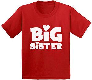 Image Is Loading Big Sister T Shirts Kids Tees Tops Cute