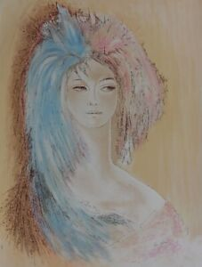 Isa CELINI : Au cabaret - LITHOGRAPHIE originale signée, Epreuve d'artiste