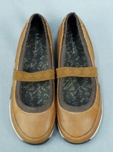 ll bean casual shoe 9 medium slip on career leather brown