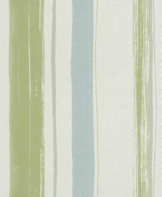 Vlies Tapete Erismann Sevilla 5985-07 598507 Streifen gestreift weiß grün blau
