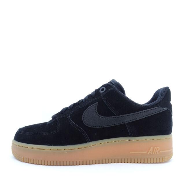 Nike Air Air Force 1'07 Lv8 Suede Mens BlackGumIvory Sale UK