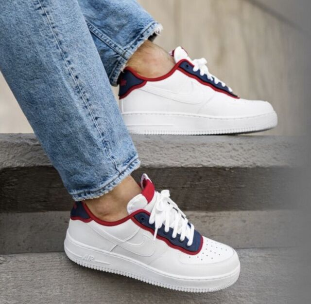 Nike Air Force 1 '07 LV8 1 White Obsidian Red AO2439 100 Men's Shoes Multi Size