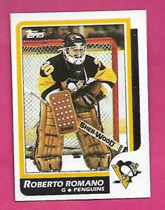 1986-87-TOPPS-152-PENGUINS-ROBERTO-ROMANO-ROOKIE-NRMT-MT-CARD-INV-D0926