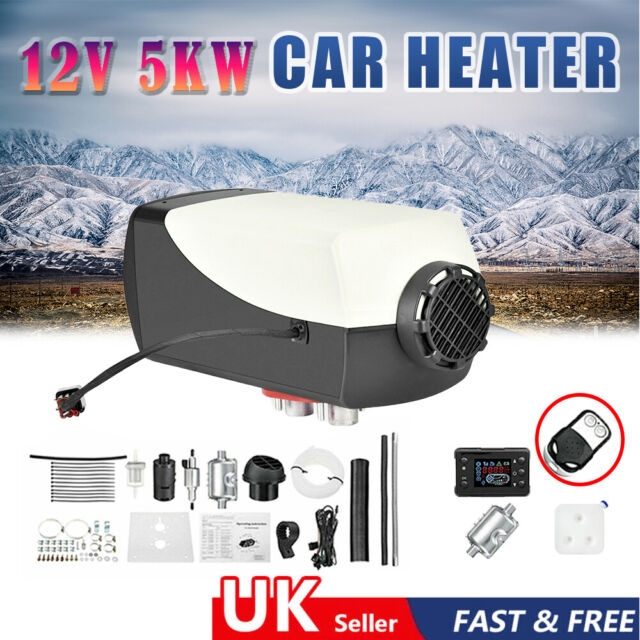 12V 5000W Air Diesel Heater LCD Display 5KW for Car Truck Motor-Home UK