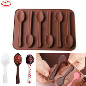 Silicone-Baking-Mould-Spoon-Design-Chocolate-Cake-Biscuit-Candy-Jelly-Mold-Decor
