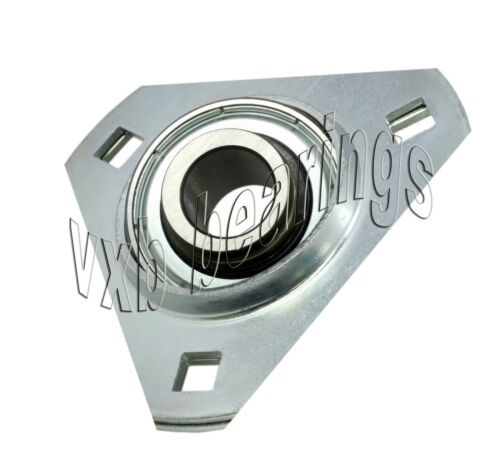 "FHPFTZ205-16 Flange 3 Bolt Triangle 1/"" Inch Ball Bearings Rolling"