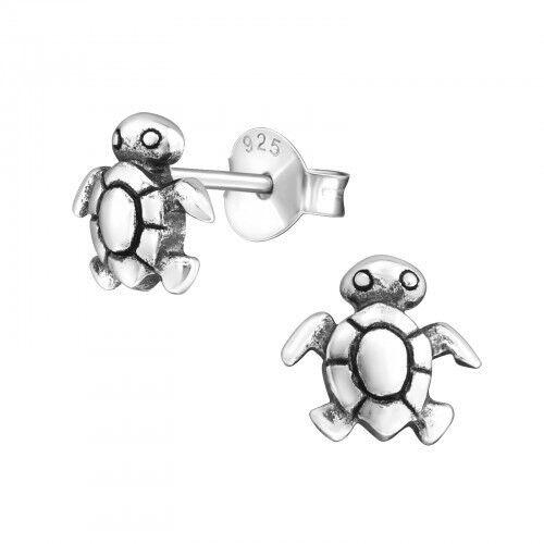 Turtle Gift Sterling Silver Personalised Earrings.Saccos