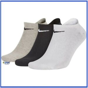 best sneakers f749d 33967 Dettagli su 3 Calzini NIKE calze fantasmini da tennis corsa per uomo donna  corti bianchi