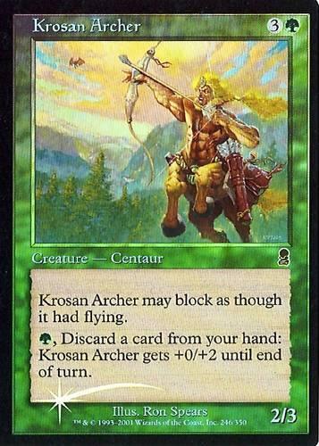 NM MTG Krosan Archer Odyssey 2X Foil